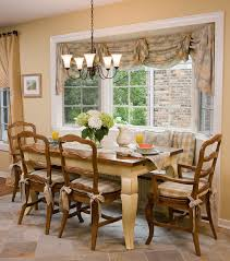 Built In Window Bench Seat Bay Window Treatments Kitchen Traditional With Yellow Kitchen