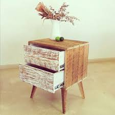 Homemade Wooden Bedside Table by Best 25 Handmade Bedside Tables Ideas On Pinterest King Size