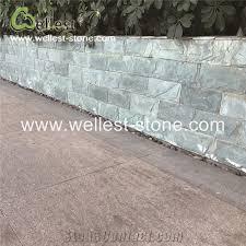 natural green slate split mushroom pillow face castle stone strip