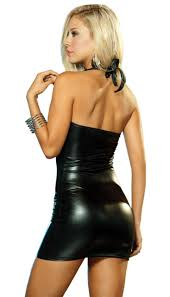 buy kaamastra black latex dress online best prices in india