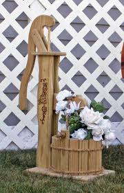 amish wooden pump planter with bucket small planters buckets