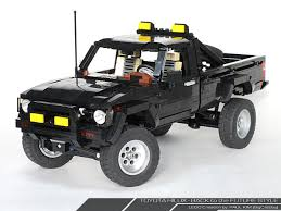 toyota tacoma jacked up toyota sr5 4x4 back to the future all in lego autoevolution