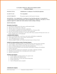 Mental Health Resumes Front Desk Receptionist Resume Resume For Your Job Application