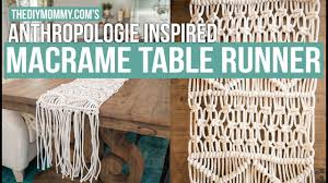 anthropologie dining room how to make a macrame table runner anthropologie inspired the