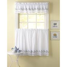 Yellow Gingham Valances by Leighton 3 Piece Curtain Tier And Valance Set Overstock