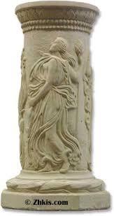 Greek Column Pedestal Nine Muses Pedestal Small Columns