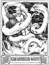 fairy tale book report template shukernature april 2015 the lambton worm from an 1894 book of fairy tales illustrated by john d batten public domain