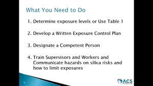 osha silica rule table 1 clearing up confusion about osha s new silica rule youtube