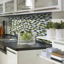 green kitchen backsplash tile luxury kitchen style with green black white peel stick glass tile