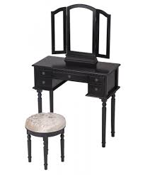 Vanity Table With Tri Fold Mirror Black Makeup Vanity Table Set Tri Folding Mirror Makeup Table With