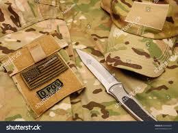 Uniform Flag Patch Combat Knife Cap Us Flag Blood Stock Photo 64283005 Shutterstock