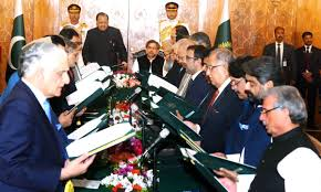 Cabinet Officers New Cabinet Takes Oath Khawaja Asif Foreign Minister Ahsan Iqbal