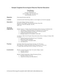 resume format exles for teachers sle resume objective for teacher applicant therpgmovie