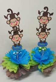 monkey baby shower theme baby shower theme centerpieces adrianas creations