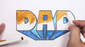 how to draw 3d block letters dad in one point perspective mat