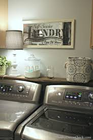 Decorating Ideas For Laundry Rooms The Mundane Thrifty Decor Thrifty Decor And Dryer