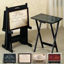 bed bath and beyond tv tray tables tv tray carry the vintage motif into your entertainment space with