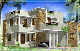 square feet modern house elevation kerala home design