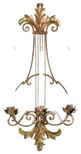 Gold Wall Sconces For Candles Sconce Ornate Gold Lyre Harp Candle Sconce Wall Holder Antique