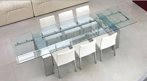 Stunning Glass Dining Room Tables With Extensions Gallery Room - Glass dining room table with extension