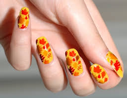 gel nail designs for fall leaves quot cute fall nails nail art