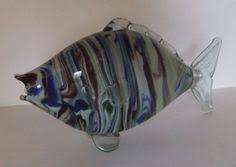 retro multicoloured glass fish ornament murano italy