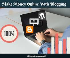 Make Money Online Blogs - make money online with blog meralesson blogger wordpress seo