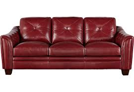 dark red leather sofa cindy crawford home marcella red leather sofa sofas elegant for 0