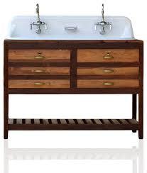 Kohler Trough Sink Bathroom Reclaimed Wood Bath Vanity 48
