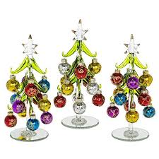 beautiful medium sized glass tree decorated with
