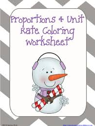 proportions and unit rate coloring worksheet math pinterest