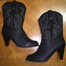 womens black boots size 12 50 torrid boots brand torrid womens black cowboy boots