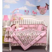 soho designs pink camo baby crib nursery bedding set 14 pcs