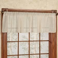 shannon semi sheer box pleated window valance