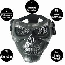 m02 scare skull mask real cs equipment field wargame sliver grey