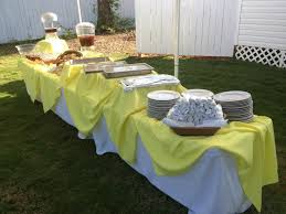 Table Decorations Outside Yellow Buffet Table Decoration Buffet Table Decor