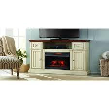 Homedepot Electric Fireplace by Montauk Shore 60 In Tv Stand Electric Fireplace In Antique White