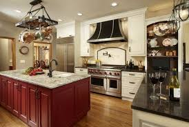 kitchen island hanging pot racks ceiling pot rack electric cooktop wooden stained islands hanging