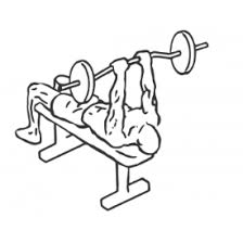 Tricep Close Grip Bench Press Lying Close Grip Barbell Triceps Press To Chin Freeworkoutlog