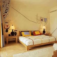 basement bedroom ideas brown wooden nightstand black wooden canopy