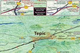 Mexico Toll Road Map by Mapa Jeff Cartography Riviera Nayarit Road Map