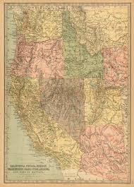 map of oregon nevada bartholomew 1881 antique map of california nevada oregon