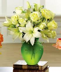 white lillies serenity roses lilies at from you flowers