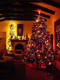 red and white alternating christmas lights beautiful christmas tree decorations ideas christmas celebration