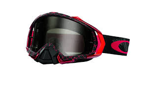 oakley motocross goggle lenses amazon com oakley mayhem pro reaper goggles blood red dark grey