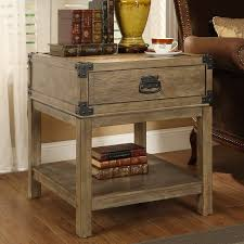 Storage End Table Coast To Coast Imports End Table With Storage U0026 Reviews Wayfair