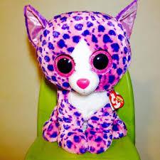 safari 36801 large ty boo giraffe purple glitter eyes