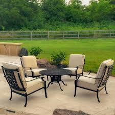 Outdoor Lifestyle Patio Furniture by Carondelet 5 Piece Cast Aluminum Patio Conversation Set W