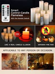 halloween flameless candles amazon com flameless candles battery candles set 4