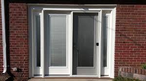Garage Door Conversion To Patio Door Patio Door With Mini Blinds And Sidelites To Convert A Garage Door
